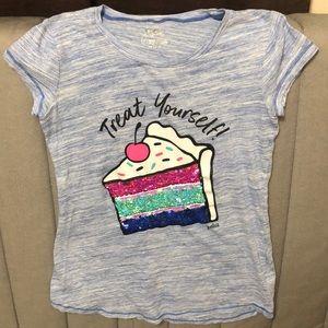 Justice Mermaid Flip Sequin T-Shirt